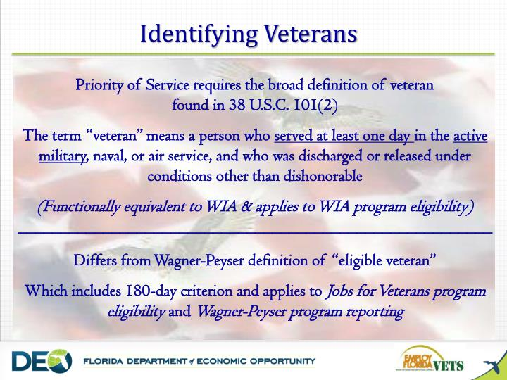 Identifying Veterans