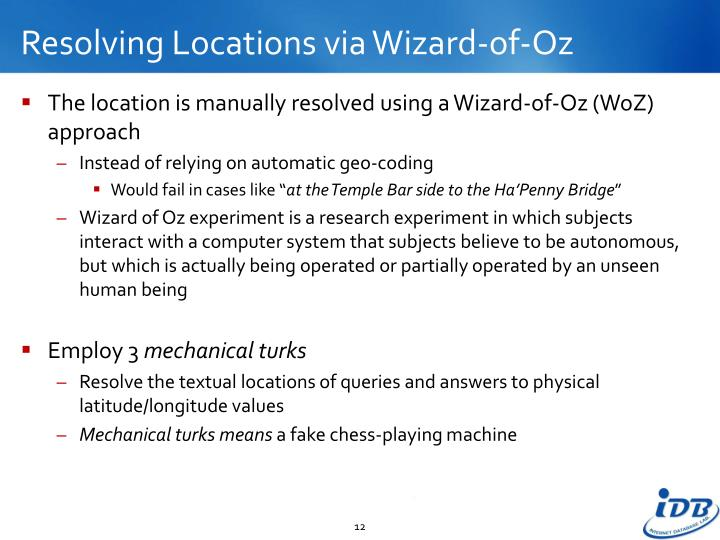 Resolving Locations via Wizard-of-Oz