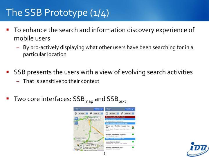 The SSB Prototype (1/4)