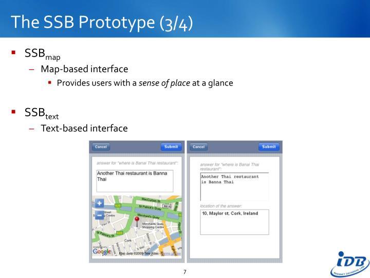 The SSB Prototype (3/4)