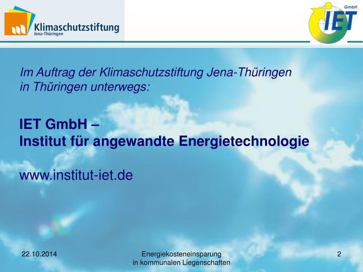 Im Auftrag der Klimaschutzstiftung Jena-Thüringen