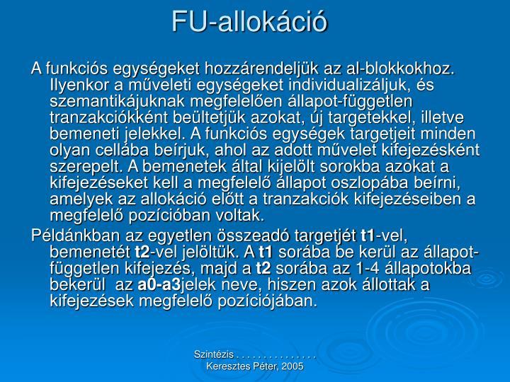 FU-allokáció