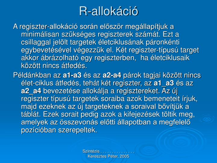 R-allokáció