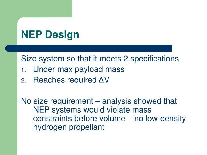 NEP Design