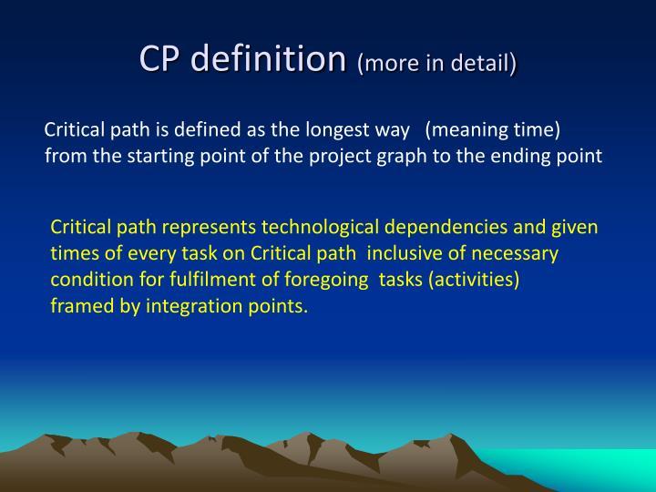 CP definition