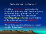 critical chain definition