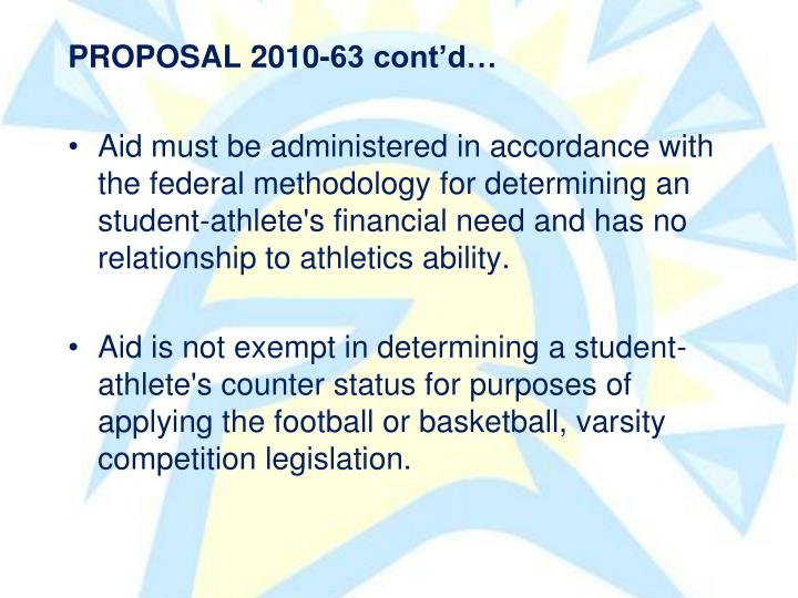 PROPOSAL 2010-63 contd