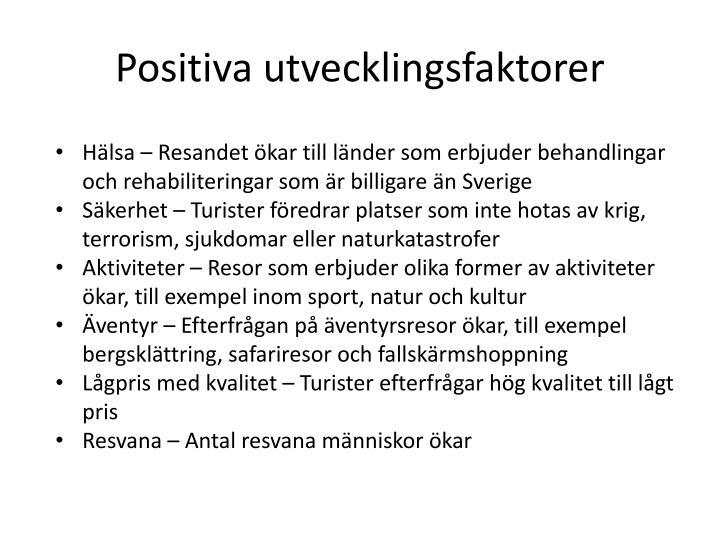 Positiva utvecklingsfaktorer