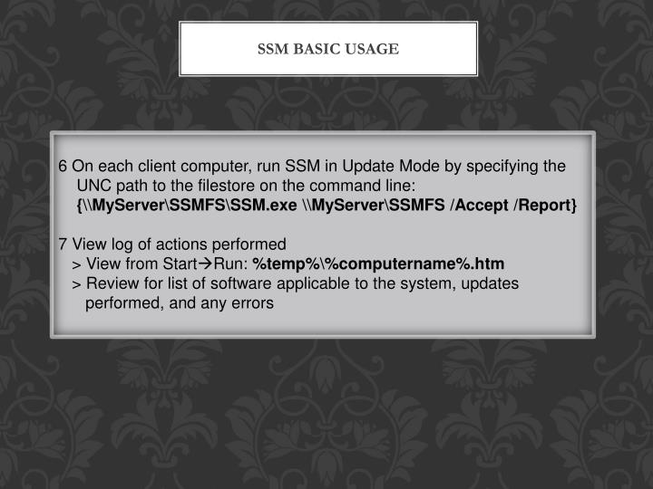 SSM Basic Usage