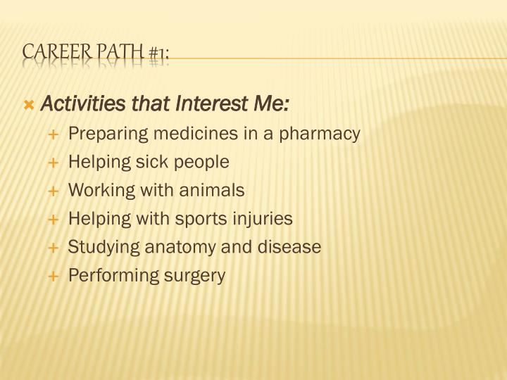 Career path 1