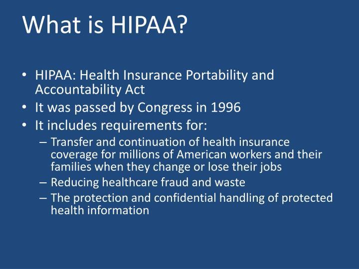 What is HIPAA?