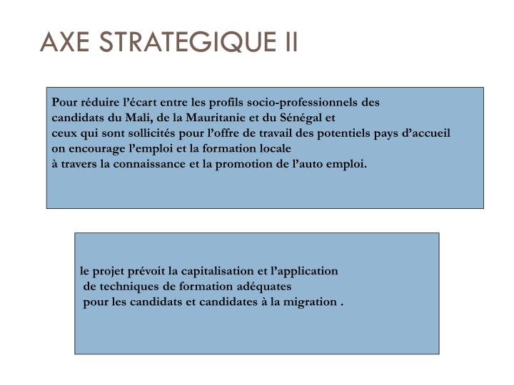 AXE STRATEGIQUE II