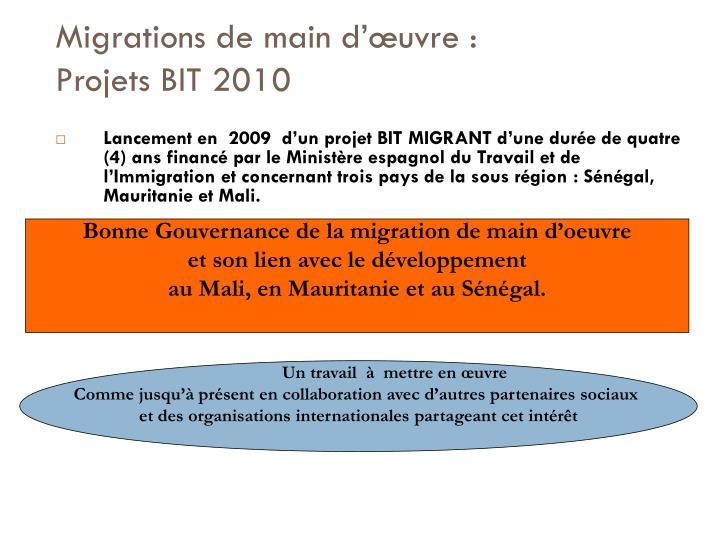 Migrations de main d'œuvre :