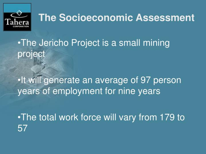 The Socioeconomic Assessment