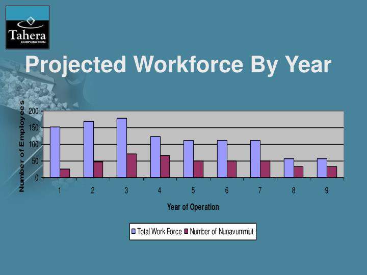 Projected Workforce By Year