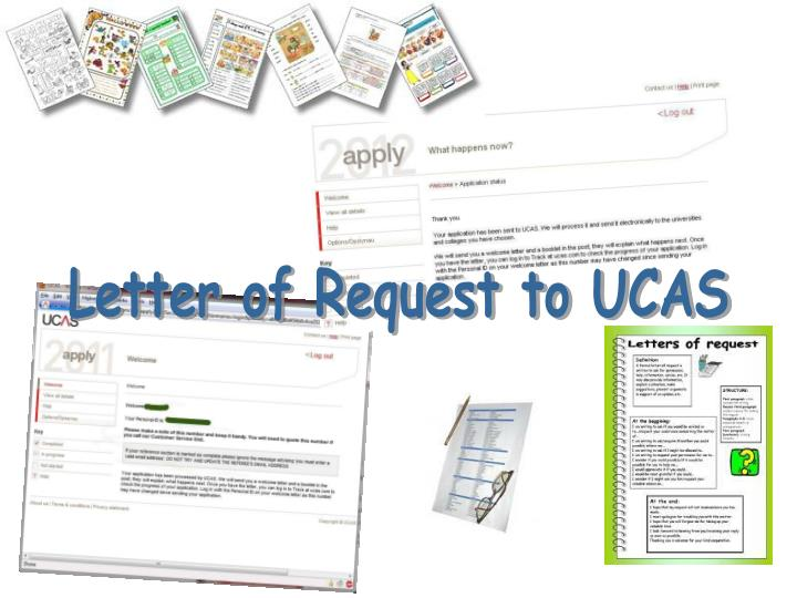 Letter of Request to UCAS