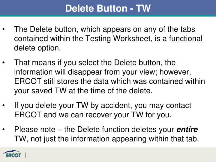 Delete Button - TW