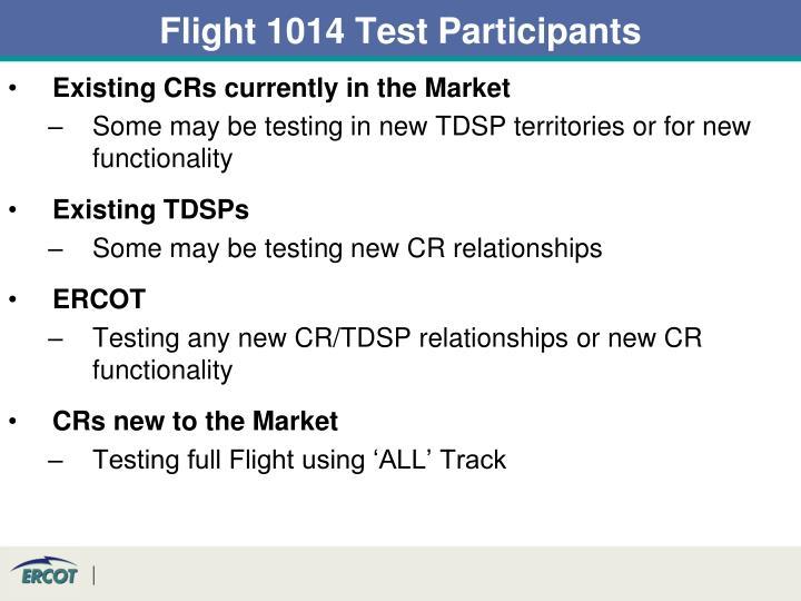 Flight 1014 Test Participants