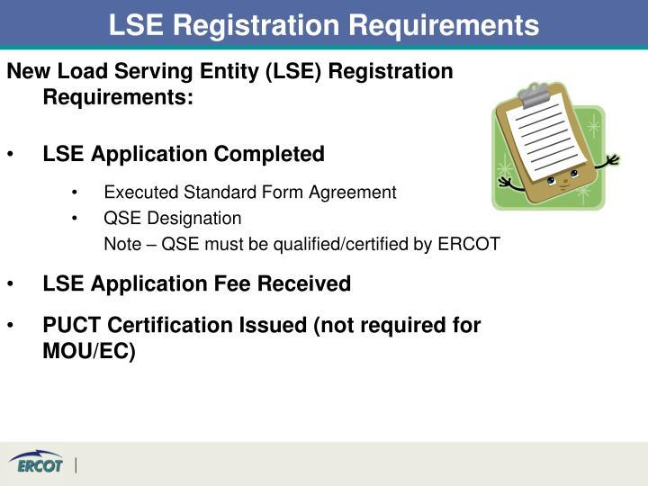 LSE Registration Requirements