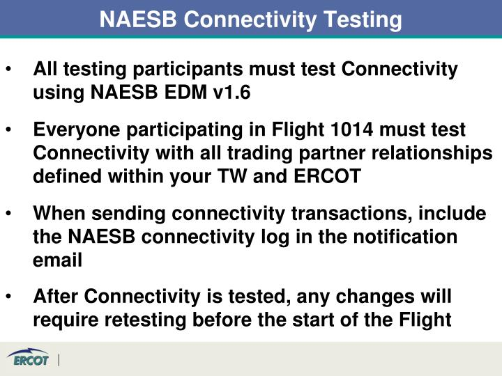NAESB Connectivity Testing