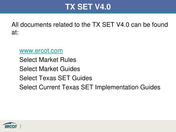 TX SET V4.0