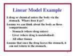 linear model example