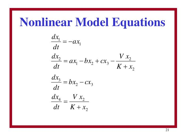 Nonlinear Model Equations
