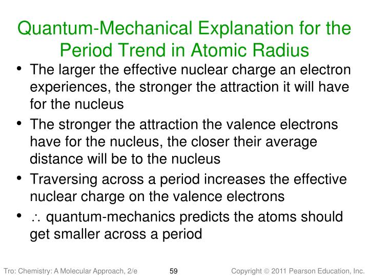 Quantum-Mechanical Explanation for the  Period Trend in Atomic Radius