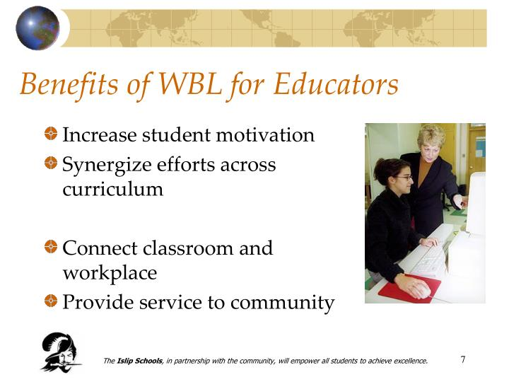 Benefits of WBL for Educators