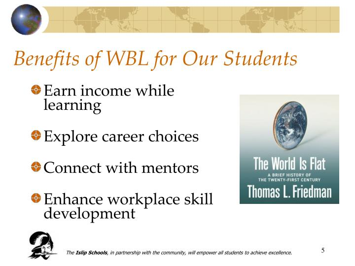 Benefits of WBL for Our Students