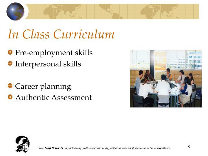 Pre-employment skills