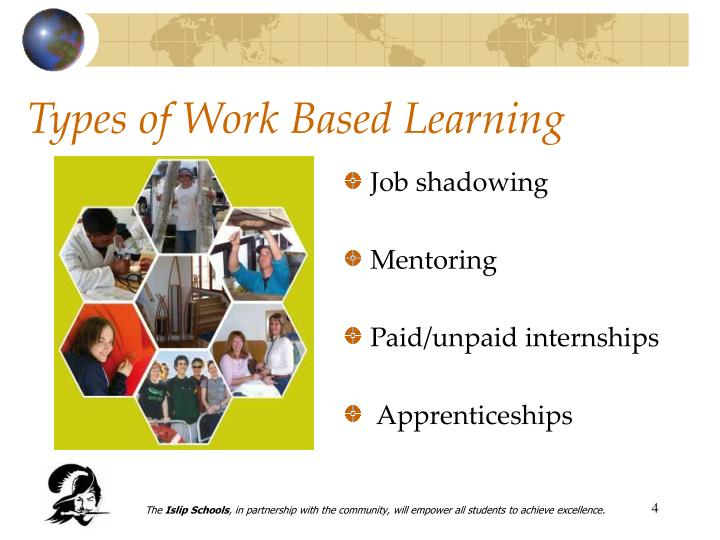 Types of Work Based Learning