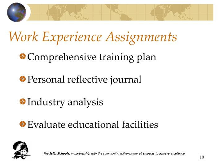 Work Experience Assignments