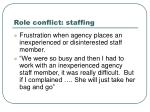 role conflict staffing