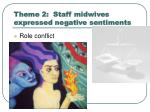 theme 2 staff midwives expressed negative sentiments