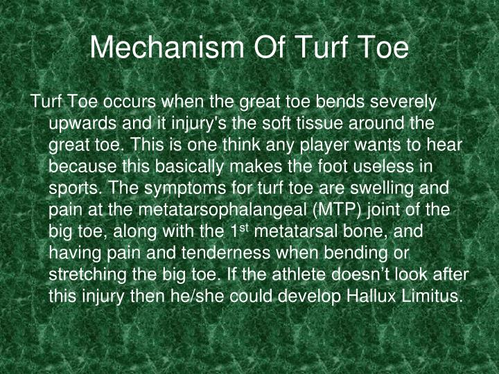 Mechanism Of Turf Toe