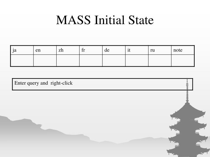 MASS Initial State
