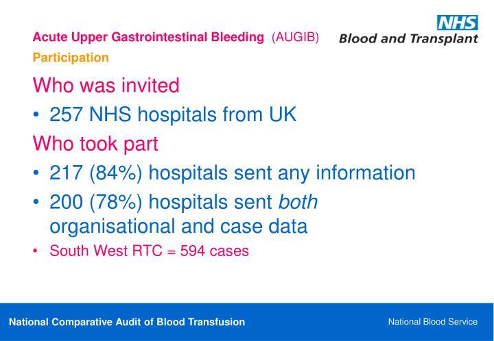 Acute Upper Gastrointestinal Bleeding