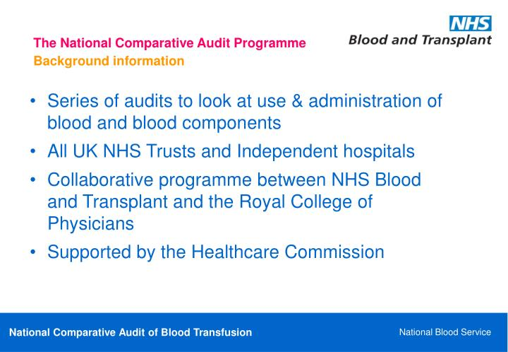 The National Comparative Audit Programme