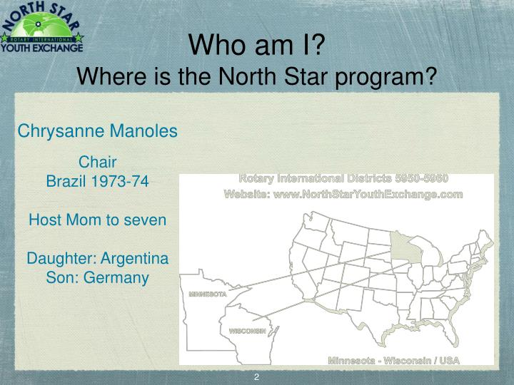 Who am i where is the north star program