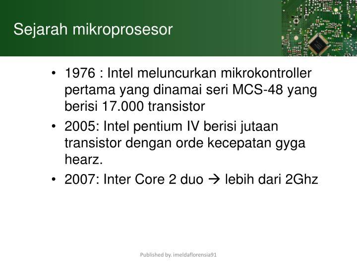 Sejarah mikroprosesor