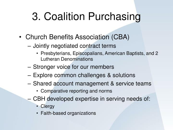 3. Coalition Purchasing