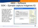 4800 software sdk ejemplo captura im genes iq
