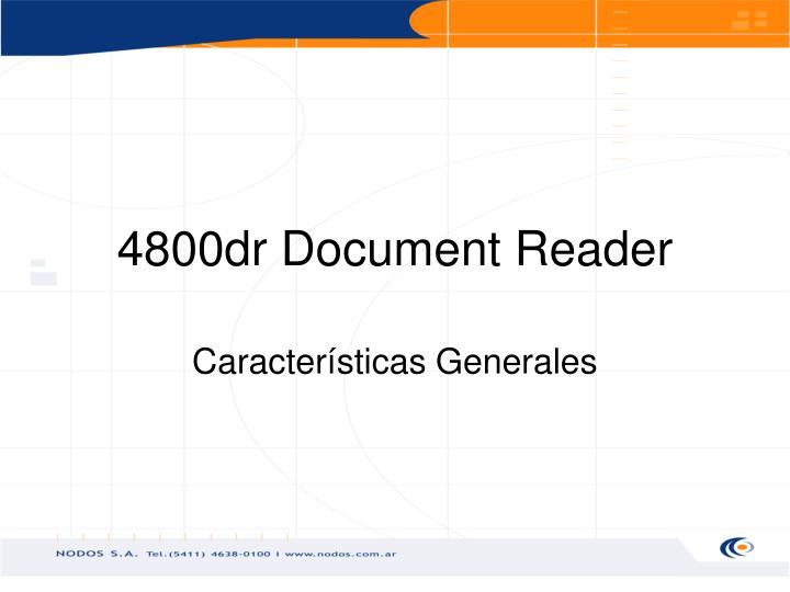 4800dr Document Reader