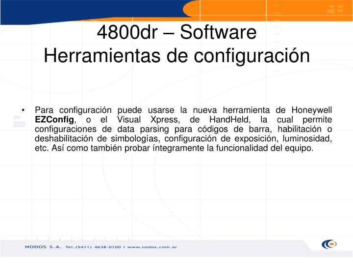 4800dr – Software