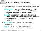 applets v s applications