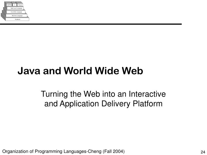 Java and World Wide Web