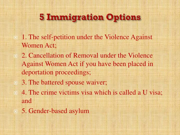 5 Immigration Options