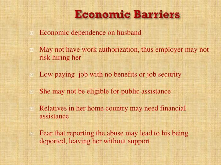 Economic Barriers