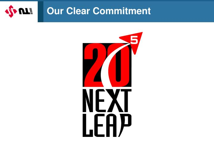 Our Clear Commitment